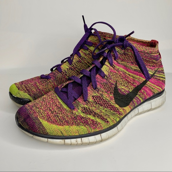 Nike Other - Nike Free Flyknit Chukka Grand Purple Running Shoe